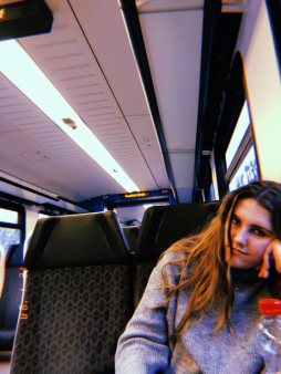 Becky on train pic.png