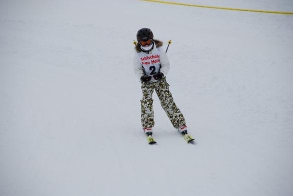 Mini me skiing 2