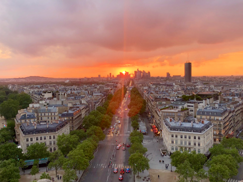 Paris sunset pic